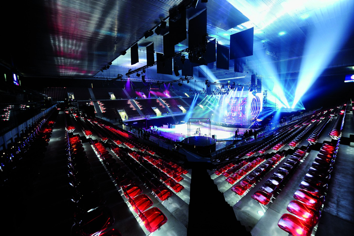 MADRID, SPAIN - NOVEMBER 07:  A general view of atmosphere before the MTV Europe Awards 2010 at the La Caja Magica on November 7, 2010 in Madrid, Spain.  (Photo by Ian Gavan/Getty Images)